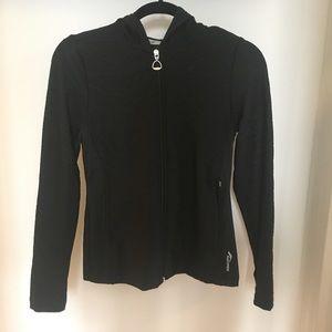 Saucony Black Running Jacket w/ thumb holes